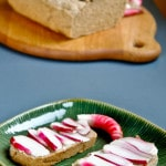 Brown Bread with Radishes