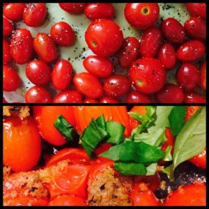 Simple and Easy: Roasted Cherry Tomatoes with Italian Breadcrumbs and Garlic