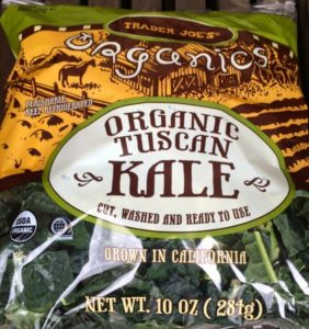 Organic Tuscan Kale in bag
