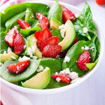 Strawberry, Avocado, Spinach Salad