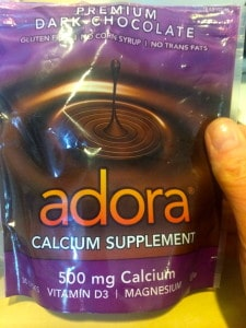 2 Adora Wafers provide 1000 mg calcium/day