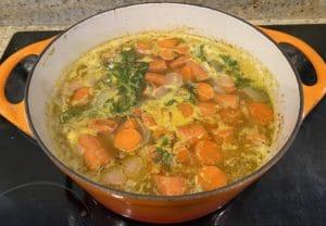 Simmer carrot soup