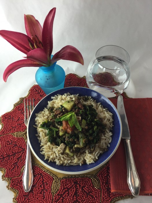 Tofu-Lentil- Kale Masala Recipe