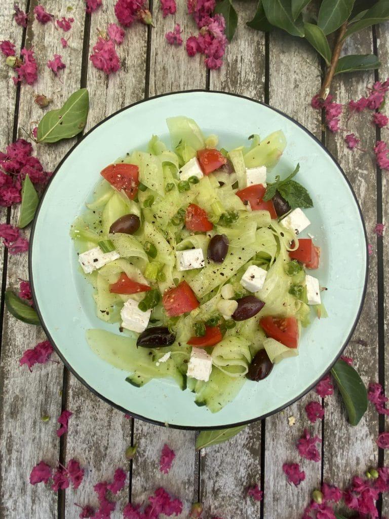 Cucumber Ribbin Salad