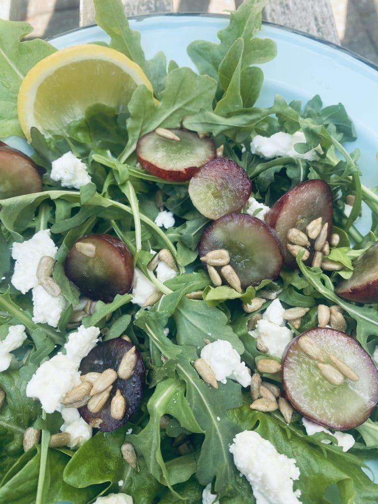 Grape & Feta Arugula Salad
